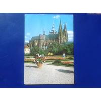 Чехословакия 1977 Прага собор св. Вита прошла почту