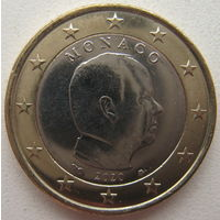 Монако 1 евро 2020 г.
