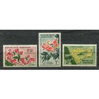 Флора. Цветы. Габон. 1961. Серия 3 марки. Чистые