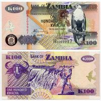 Замбия. 100 квача (образца 2006 года, P38f, XF)