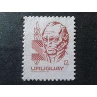 Уругвай 1985 стандарт, персона 12 песо