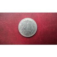Индия 1 рупия, 2001г.  (а-7)