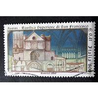 Италия 1999 г. Базилика св. Франциска. Архитектура, полная серия из 1 марки #0041-A1