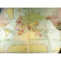 Карта мира Гитлеровская Германия 1942 год без Польши