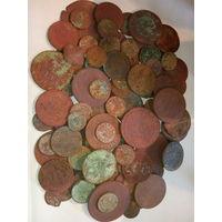 100 монет старой меди ( 2 ). с рубля