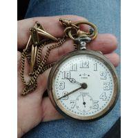 Карманные часы с будильником. ETERNA. Очень редкие.