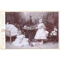 Копия фотографии Великие Княжны Ольга и Татьяна совсем еще дети