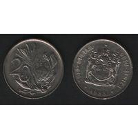 Южная Африка (ЮАР) _km86 20 центов 1983 год (b06)