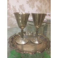 Тарелка с бокалами,комплект