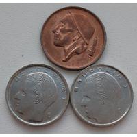 РАСПРОДАЖА - БЕЛЬГИЯ: 3 монеты 1980-1990 года_Отличные_Много лотов в продаже