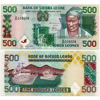 Сьерра Леоне. 500 леоне (образца 1998 года, P23b, UNC)