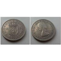 1 шиллинг 1955 г.в. Великобритания, KM# 905 SHILLING, из коллекции