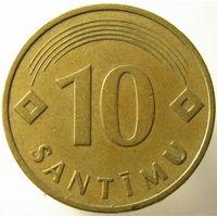 Латвия 10 сантимов 1992