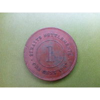 Стрейтс Сеттлментс - 1 цент 1907 г. Редкая! Состояние! Старт с 10 копеек (лот 3)