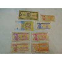 Лот банкнот , Украина