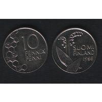 Финляндия km65 10 пенни 1995 год (M) (f35)