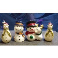 Свечи коллекционные . Снеговики .