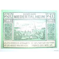 Австрия 20 геллер 1920г. нотхельд.  распродажа