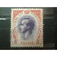 Монако 1955 князь Ренье 3 8фр