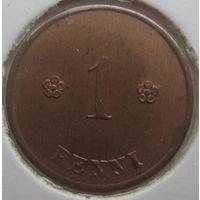 Финляндия 1 пенни 1924 г. В холдере (g)