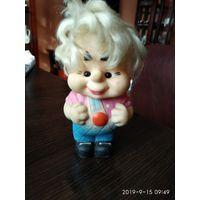 Детская игрушка кукла из резины Карлсон СССР.