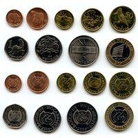 Мозамбик 1, 5, 10, 20, 50 сентаво 1, 2, 5, 10 метикалов 2006 г. 9 шт.