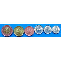 Чехия Набор монет 2017 года (1, 2, 5, 10, 20, 50 крон)
