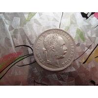 1 флорин Австро-Венгрия 1879 год серебро СОСТОЯНИЕ