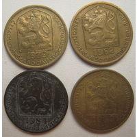 Чехословакия 20 геллеров 1979, 1982, 1984, 1989 гг. Цена за 1 шт. (v)