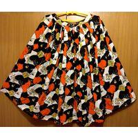 Карнавальная юбка для костюма Королева, Коломбина, длина 75 см