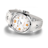 """Механические часы класса """"люкс"""" Eberhard & Co модель Scafomatic, редкое исполнение. Автоподзавод. Сапфир. Оранжевый люм. 42 мм. Новые."""