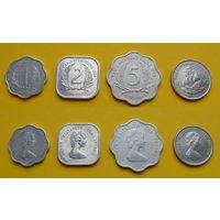 Британские Карибские острова набор 1, 2, 5, 10 цент второй возраст Елизаветы II
