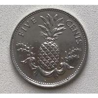 Багамские острова 5 центов 2000 г.