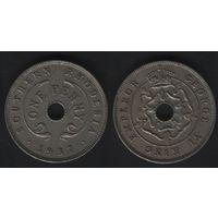 Южная Родезия _km8 1 пенни 1937 год (f09)*