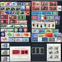 ГДР - 1966г. - Полный годовой набор - MNH [Mi 1154-1244] - 77 марок, 3 сцепки, 1 блок, 1 малый лист