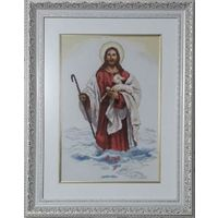 Картина ,,Христос,,ручная работа, вышивка.