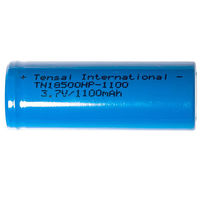 Аккумуляторы Tensai 18500 IMR Li-mn battery 1100mAh (22A) 1шт  (LiMn, Оригинальные)