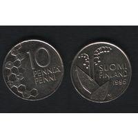 Финляндия km65 10 пенни 1995 год (M) (f36)