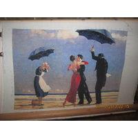 """Вышитая картина """"Танцы под дождём"""""""