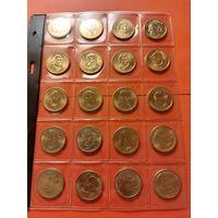 США 1 доллар ++ КОЛЛЕКЦИЯ - ( 20 шт.) ++ .. РАСПРОДАЖА КОЛЛЕКЦИИ !!!