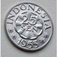 Индонезия 25 сенов, 1955 7-3-1