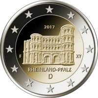 2 евро 2017 Германия F Рейнланд-Пфальц UNC из ролла
