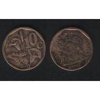 Южная Африка (ЮАР) km135 10 центов 1992 год (b06)