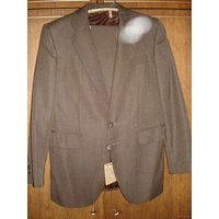 Костюм мужской (пиджак и брюки), ретро, новый с этикеткой, 1981 года. р. 48, рост 164