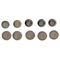УГАНДА 1976 год -НАБОР- 1 шиллинг(5 штук)+50 центов(5 штук)