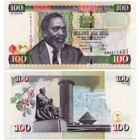 Кения. 100 шиллингов (образца 2010 года, P48e, UNC)