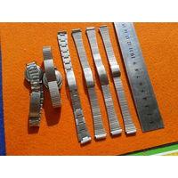 Часы,дамские интересные браслетики для часов,нержавейка,СССР