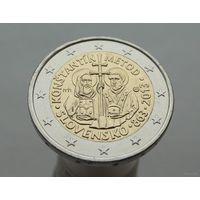 2 евро 2013 Словакия 1150 лет миссии Кирилла и Мефодия в Великой Моравии UNC из ролла