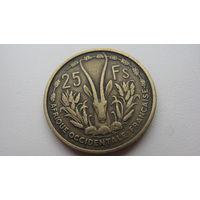 Западная Африка 25 франков  1956