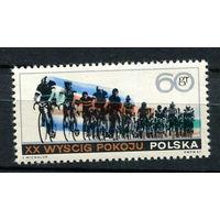 Польша - 1967 - Велогонки - [Mi. 1760] - полная серия - 1 марка. MNH.